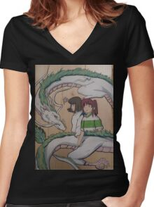 Spirited Women's Fitted V-Neck T-Shirt