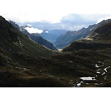 Valley of mountains Photographic Print