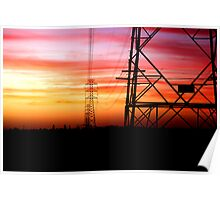 Power Lines at Dusk Poster