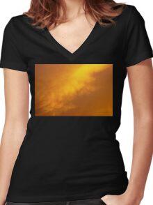 Golden Hour Women's Fitted V-Neck T-Shirt