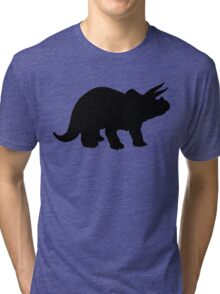 Triceratops Dinosaur Silhouette Tri-blend T-Shirt