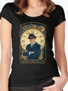 Inspector Spacetime Nouveau (II) Women's Fitted Scoop T-Shirt