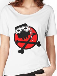 Funny skull and bones Women's Relaxed Fit T-Shirt