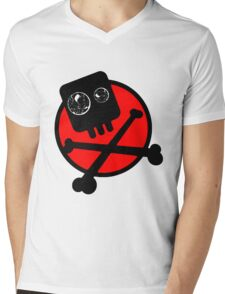 Funny skull and bones Mens V-Neck T-Shirt