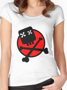 Funny skull and bones Women's Fitted Scoop T-Shirt