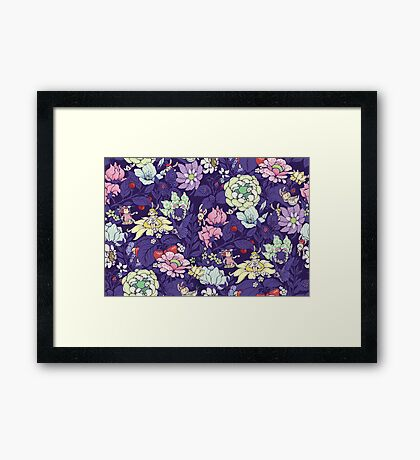 The Garden Party - blueberry tea version Framed Print