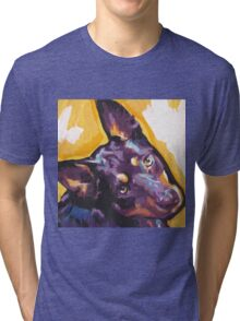 Australian Kelpie Bright Colorful Pop Art Tri-blend T-Shirt