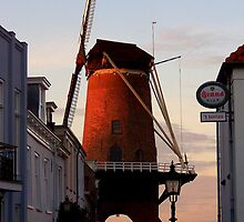 The only drive-through wind mill (grist mill) in the world.... by Hans Bax