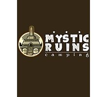 MYSTIC RUINS: camping Photographic Print