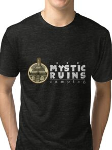 MYSTIC RUINS: camping Tri-blend T-Shirt