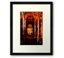 Magestic hall Framed Print