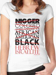 HEBREW ISRAELITE WHT Women's Fitted Scoop T-Shirt