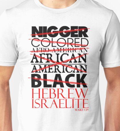 HEBREW ISRAELITE WHT Unisex T-Shirt