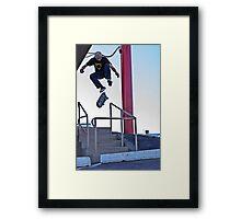 360 Flip Framed Print