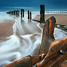 Sandsend Groynes, Whitby, North Yorkshire. by Ian Snowdon /     www.downtoearthimages.co.uk