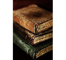 Stack Of Old Books Photographic Print
