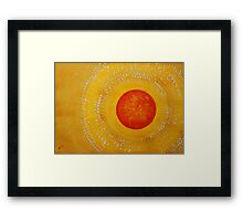 Autumn Sun original painting Framed Print