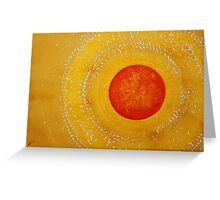 Autumn Sun original painting Greeting Card