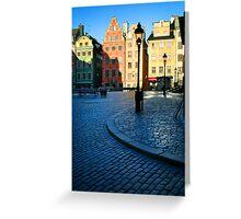 Stockholm Stortorget Square Greeting Card