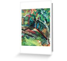 """Detail from """"Orchard"""" Painting Greeting Card"""
