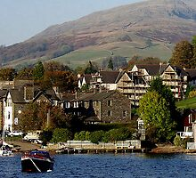 Ambleside, Cumbria from Lake Windermere by Andrew  Bailey