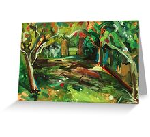 Apple Orchard Oil Painting by Jenny Meehan Greeting Card