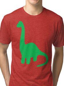 Brachiosaurus, Long-Neck Dinosaur (Loch Ness Monster) Tri-blend T-Shirt
