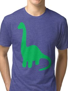Brachiosaurus, Long-Neck Dinosaur (Loch Ness Monster) Tri-blend T-Shirt