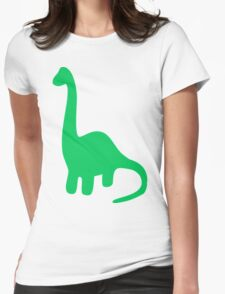 Brachiosaurus, Long-Neck Dinosaur (Loch Ness Monster) Womens Fitted T-Shirt