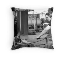 in the foundry Throw Pillow