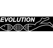 Evolution DNA Jesus fish Photographic Print