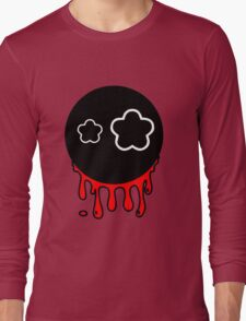 Funny cartoon bleeding head Long Sleeve T-Shirt