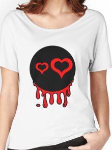 Funny cartoon bleeding head Women's Relaxed Fit T-Shirt