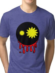 Funny cartoon bleeding head Tri-blend T-Shirt