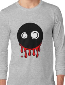 Funny cartoon bleeding head Long Sleeve T-Shirt