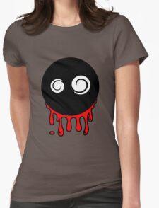 Funny cartoon bleeding head Womens Fitted T-Shirt