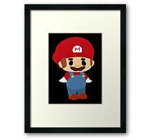 Mini Mario Chibi Framed Print