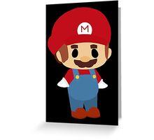 Mini Mario Chibi Greeting Card