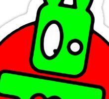 Funny cartoon bunny Sticker