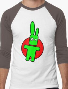 Funny cartoon bunny Men's Baseball ¾ T-Shirt