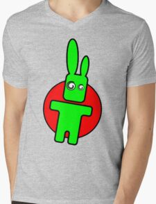 Funny cartoon bunny Mens V-Neck T-Shirt