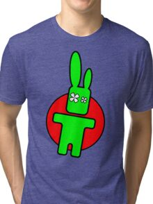 Funny cartoon bunny Tri-blend T-Shirt