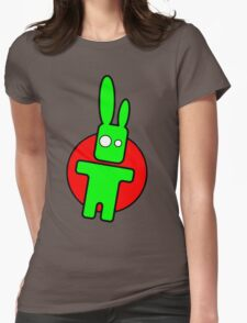 Funny cartoon bunny Womens Fitted T-Shirt