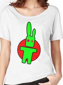 Funny cartoon bunny Women's Relaxed Fit T-Shirt