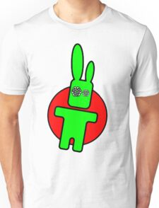 Funny cartoon bunny Unisex T-Shirt