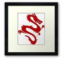 Asian Dragon, Design Framed Print