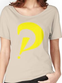 Interrobang perspective (yellow) Women's Relaxed Fit T-Shirt
