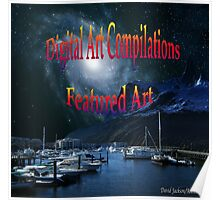 Digital Art Compilations Featured Art Banner Poster