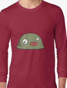 Funny cartoon alien blob Long Sleeve T-Shirt