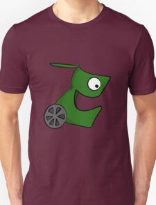 Funny cartoon green alien Unisex T-Shirt